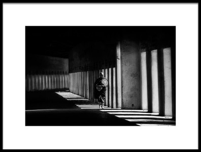 Art print titled Monk On the Alley by the artist April Badilles