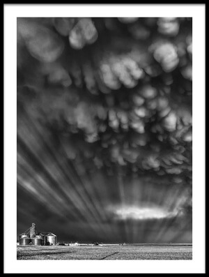 Buy this art print titled Monochrome Mammatus by the artist Rob Darby