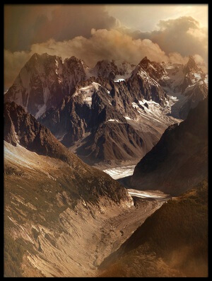 Buy this art print titled Mont Blanc Massiv by the artist Nicolas Schumacher
