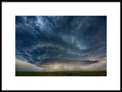 Art print titled Montana Supercell by the artist Alexander Fisher