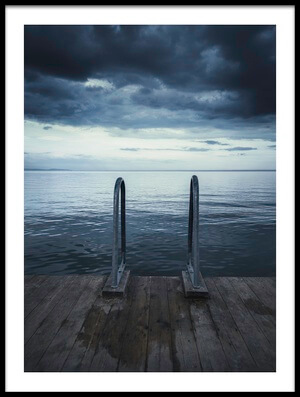 Buy this art print titled Moody Jetty by the artist Christian Lindsten