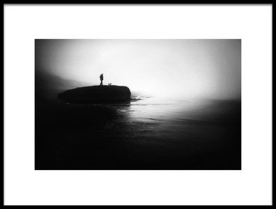 Art print titled Moody West Coast by the artist Marianne Siff Kusk