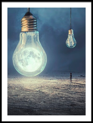 Buy this art print titled Moon Lamp by the artist sulaiman almawash