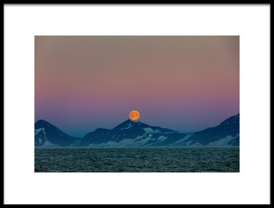 Art print titled Moon Over Arctic by the artist April Badilles