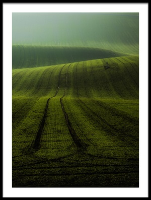 Art print titled Moravian Waves by the artist Marek Boguszak