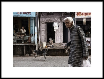 Art print titled Morning Day In India by the artist Andrei Nicolas - The Traveler