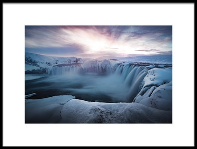 Buy this art print titled Morning Godafoss by the artist Colin Bradnam