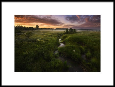 Art print titled Morning On Kesma River by the artist Kirill Volkov