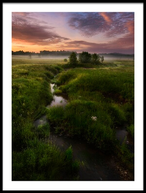 Art print titled Morning On Kes'ma River by the artist Kirill Volkov