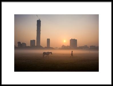 Art print titled Morning Walk by the artist Subhrajit Paul