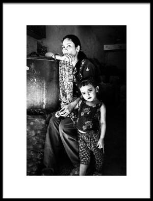 Art print titled Mother and Child by the artist TORU MATSUNAGA