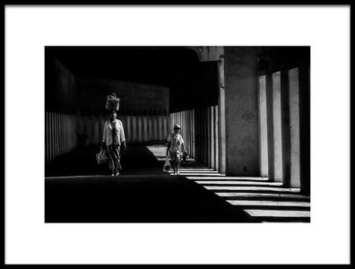 Buy this art print titled Mother and Son On the Alley by the artist April Badilles