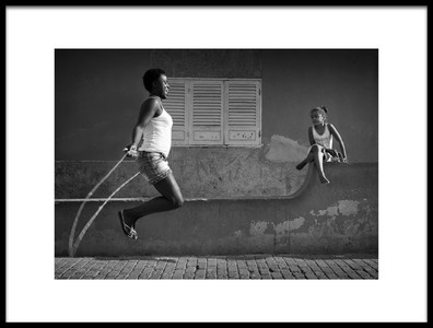 Art print titled Mothers Jump by the artist Marc Apers