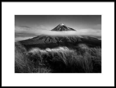 Art print titled Mount Taranaki by the artist Wei He
