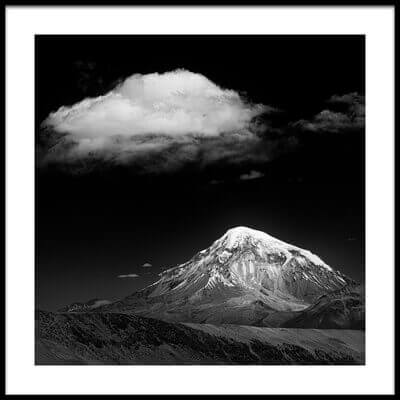 Art print titled Mountain and Cloud by the artist Alan McNair