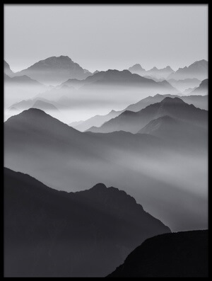 Buy this art print titled Mountain Layers II by the artist Ales Krivec