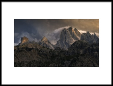 Art print titled Mountain Moments by the artist Oskar Baglietto