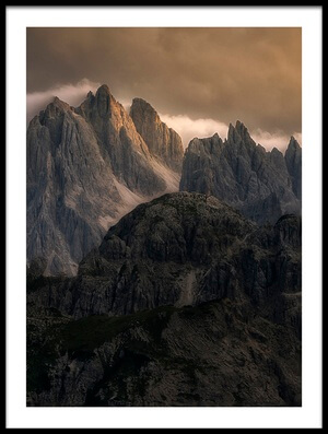 Buy this art print titled Mountain Moments by the artist Oskar Baglietto