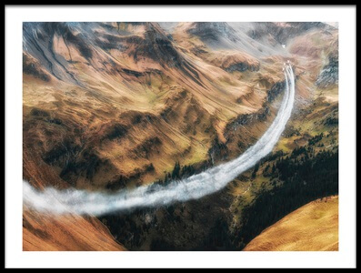 Art print titled Mountain Pass by the artist Piotr Wrobel