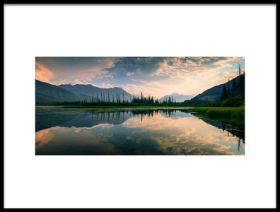 Art print titled Mountain Reflections by the artist David D