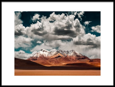 Buy this art print titled Mountains In the Salvador Dali Desert  Bolivia by the artist Hernan Calderon Velasco