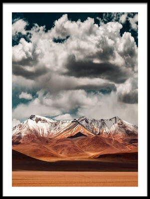 Buy this art print titled Mountains In the Salvador Dali Desert - Bolivia by the artist Hernan Calderon Velasco