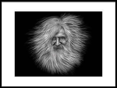 Art print titled Mr Hair by the artist Hans Wolfgang Müller