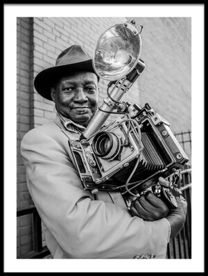 Art print titled MrLouis Mendes/NYC-USA Street Photography Icon by the artist Hans ML Spiegel