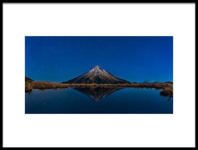 Art print titled Mt Taranaki by the artist FEI SHI