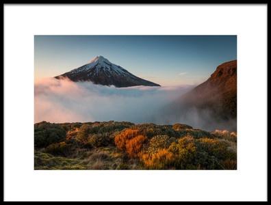 Art print titled Mt Taranaki by the artist Christoph Schaarschmidt