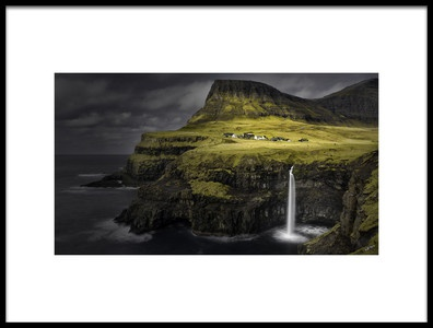 Art print titled Mulafossur Waterfall by the artist Mozart Chan