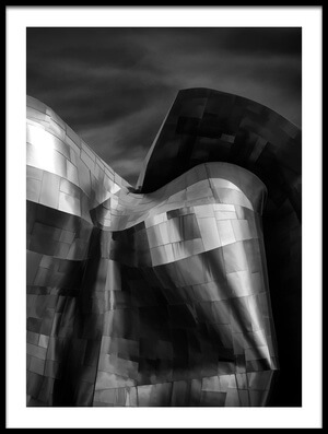 Art print titled Museum of Pop Culture, Seattle by the artist Gary E. Karcz