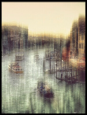 Art print titled Muzzy Venice by the artist Krisztina Lacz