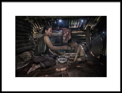 Art print titled My Baby by the artist sarawut intarob