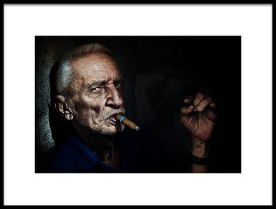 Art print titled My Cigar by the artist Trevor Cole