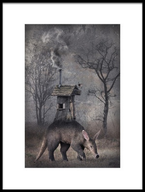 Buy this art print titled My Hut On the Back by the artist Muriel Vekemans