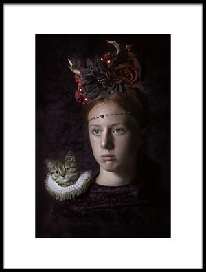 Art print titled My Little Friend by the artist Carola Kayen-Mouthaan