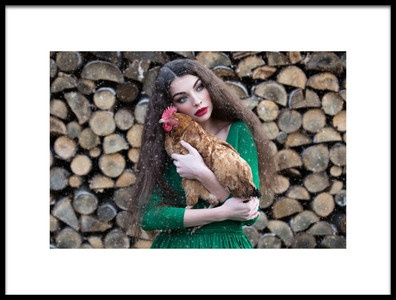 Art print titled My Little Hen by the artist Inese Stoner