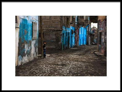 Art print titled My Street by the artist Ramiz Şahin