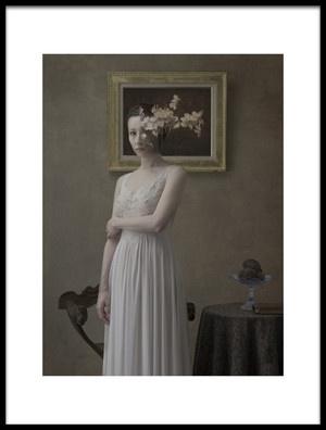 Art print titled Narcisse Femme by the artist Fuyuki Hattori