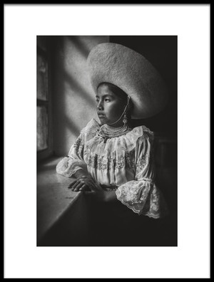 Art print titled Natabuela Girl by the artist John Quintero
