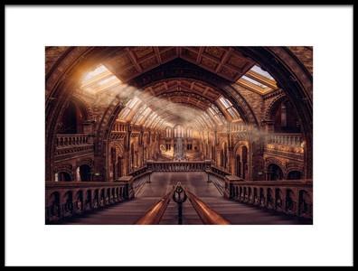 Art print titled Natural History Museum  London by the artist Hernan Calderon Velasco