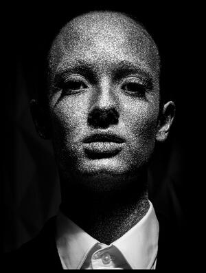 Art print titled New Human by the artist Gautier Van Lieshout