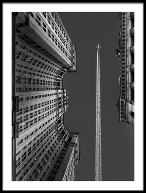 Art print titled New York - Flight Over Manhattan by the artist Michael Jurek