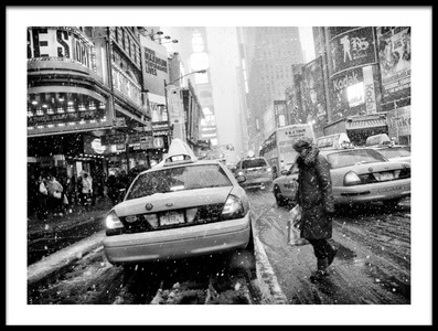 Buy this art print titled New York In Blizzard by the artist Martin Froyda