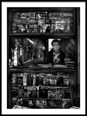 Art print titled Newsagent by the artist Antonio Grambone