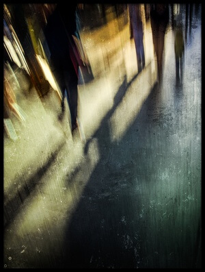 Buy this art print titled Nice Evening Walk Through the City Center by the artist Andrés Gámiz