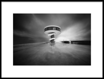 Art print titled Niemeyer by the artist Carlos F. Turienzo
