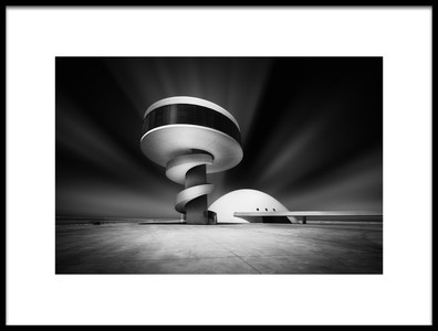 Buy this art print titled Niemeyer Center by the artist Jorge Ruiz Dueso