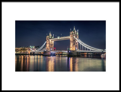 Buy this art print titled Night at the Tower Bridge by the artist Nader El Assy